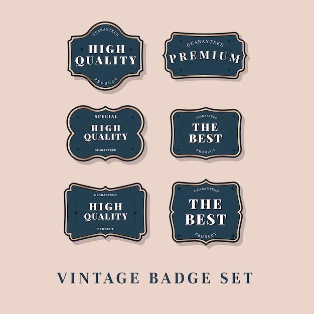 Vintage labelcollectie Gratis Vector