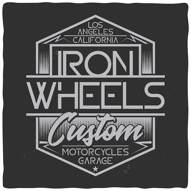 Vintage labelontwerp met belettering samenstelling op donkere achtergrond. t-shirt ontwerp. Gratis Vector