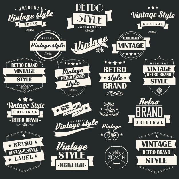 Vintage labels collectie Gratis Vector