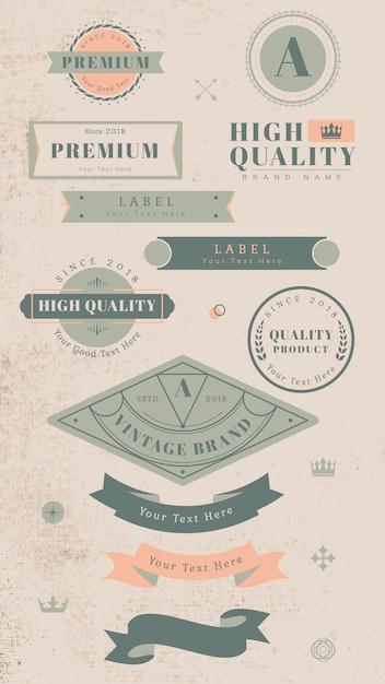 Vintage labels en badges Gratis Vector