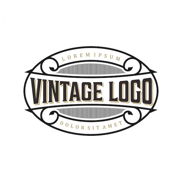 Vintage logo voor eten / drinken labels of restaurants en cafés Premium Vector
