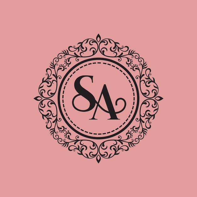Vintage luxe logo Premium Vector