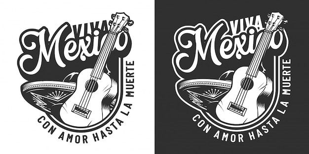 Vintage mexicaanse day of dead label Gratis Vector