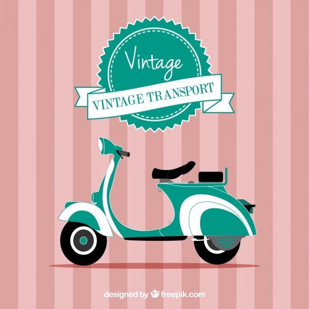 Vintage motorfiets vector Gratis Vector