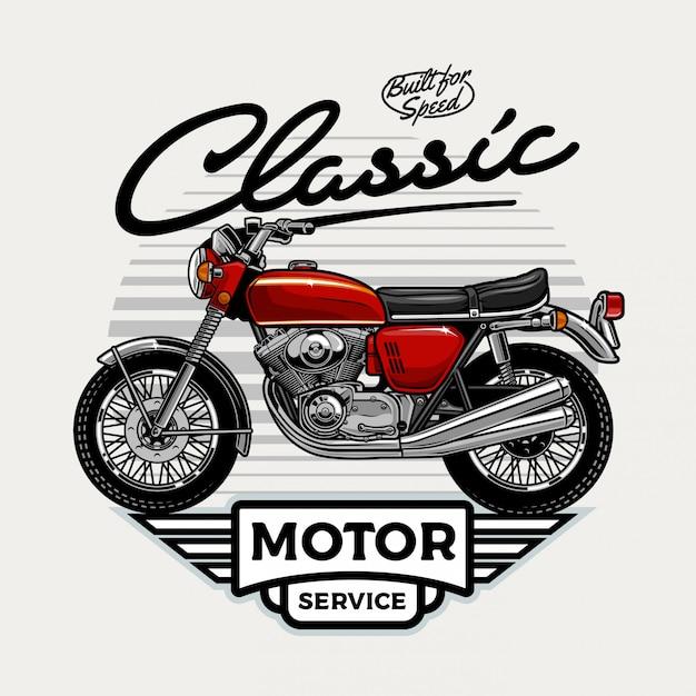 Vintage motorfiets Premium Vector