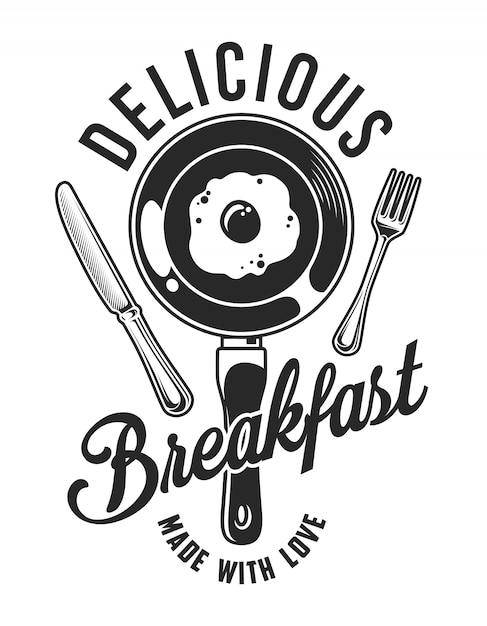 Vintage ontbijt Premium Vector