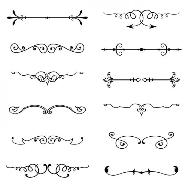 Single Line Font Art : Vintage ornamenten vector gratis download
