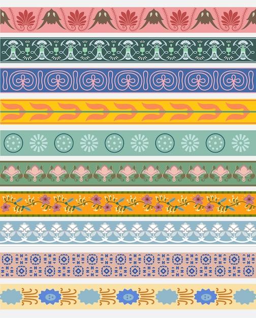 Vintage patronen geïnspireerd door the grammar of ornament Gratis Vector