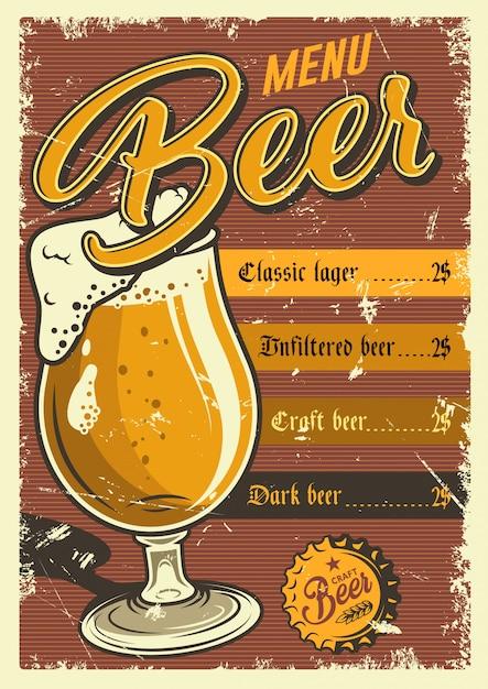 Vintage pub poster. Gratis Vector