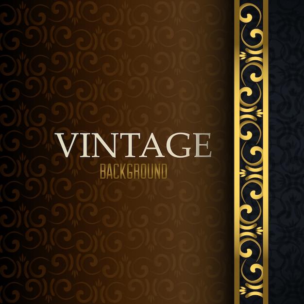 Vintage retro achtergrond Gratis Vector