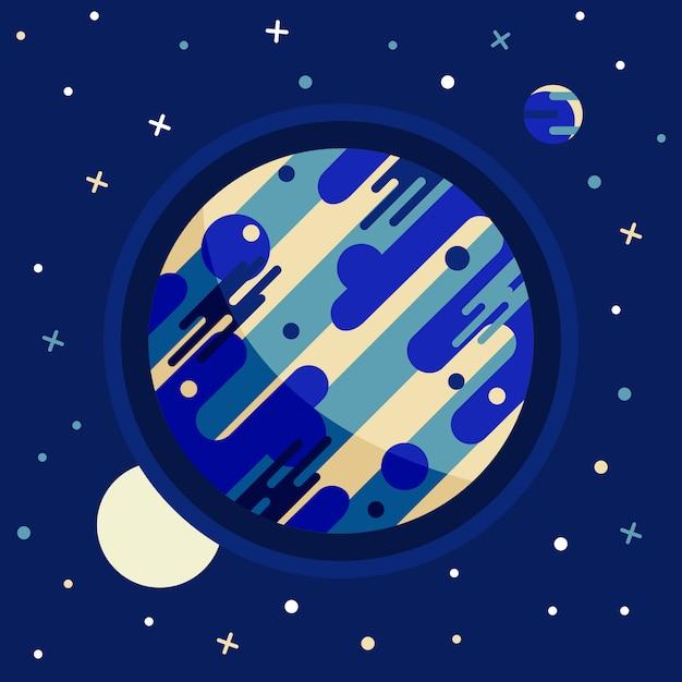 Vintage ruimte en astronaut achtergrond. Gratis Vector