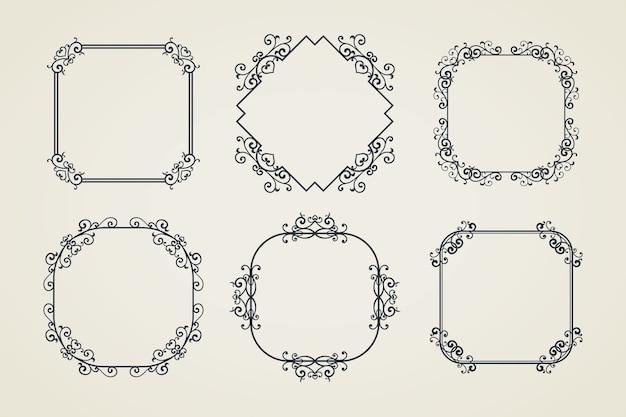 Vintage sierlijst frame Gratis Vector