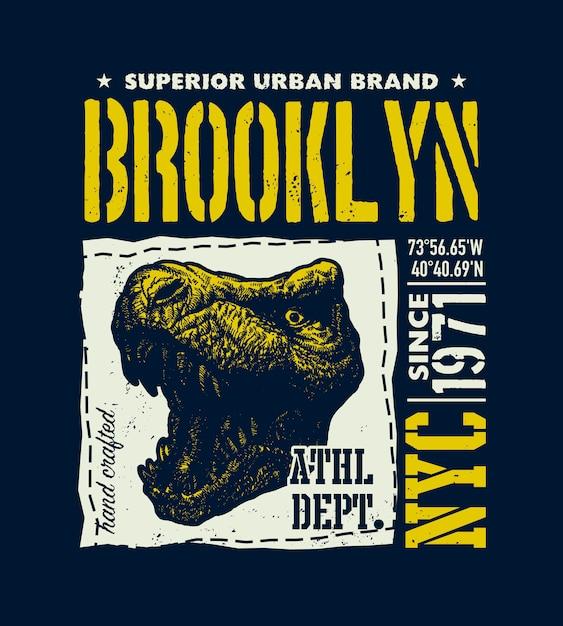 Vintage stedelijke typografie illustratie Premium Vector