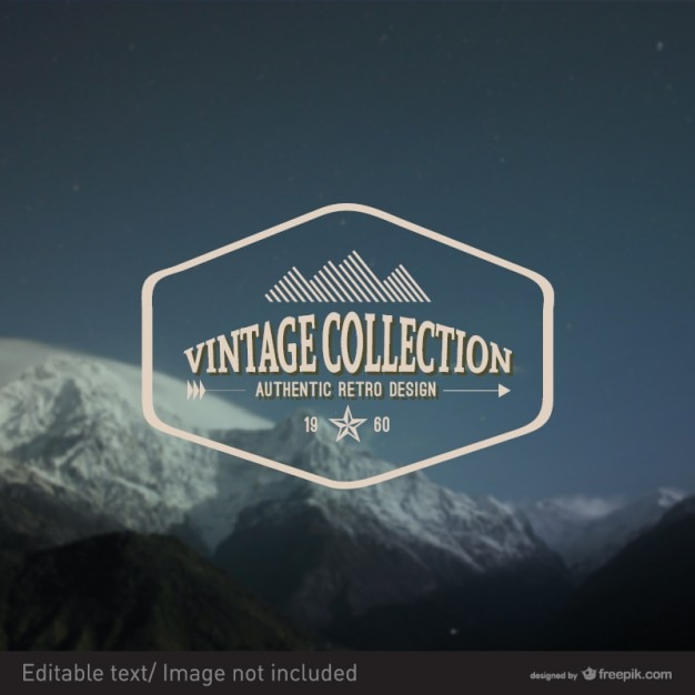 Vintage vector zegelontwerp Gratis Vector
