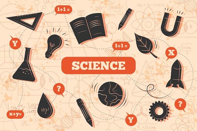 Vintage wetenschappelijk onderwijs achtergrond Gratis Vector