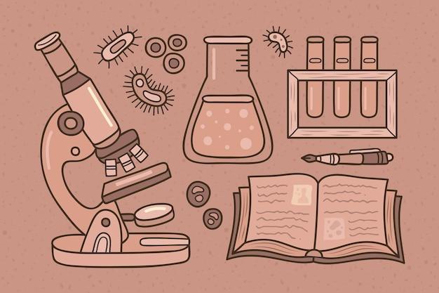 Vintage wetenschappelijke achtergrond Gratis Vector