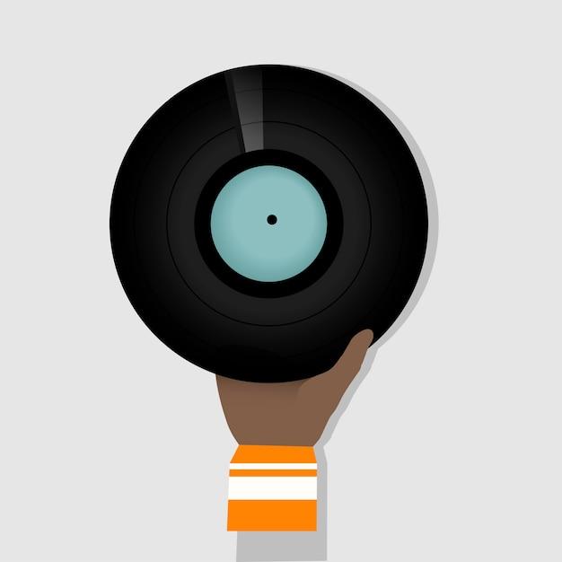 Vinyl schijf Gratis Vector