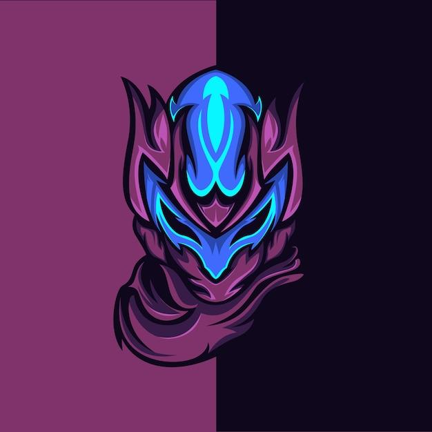 Violet ghost Premium Vector