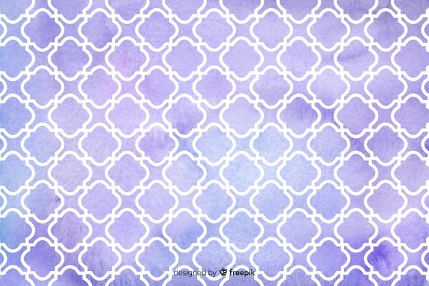 Violette de tegelsachtergrond van het waterverfmozaïek Gratis Vector