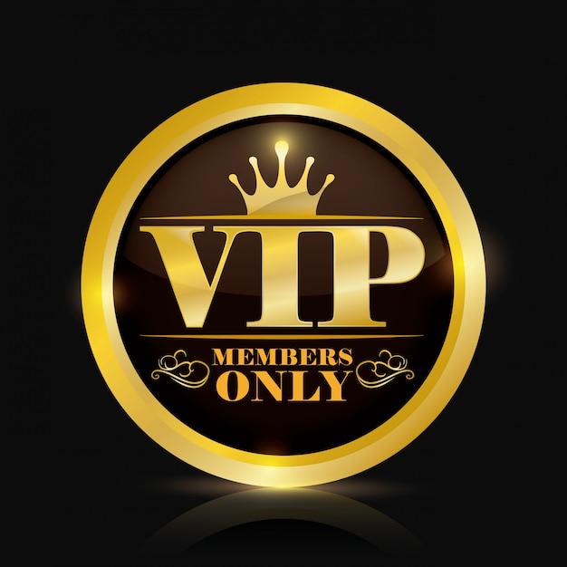 Vip-lid Premium Vector