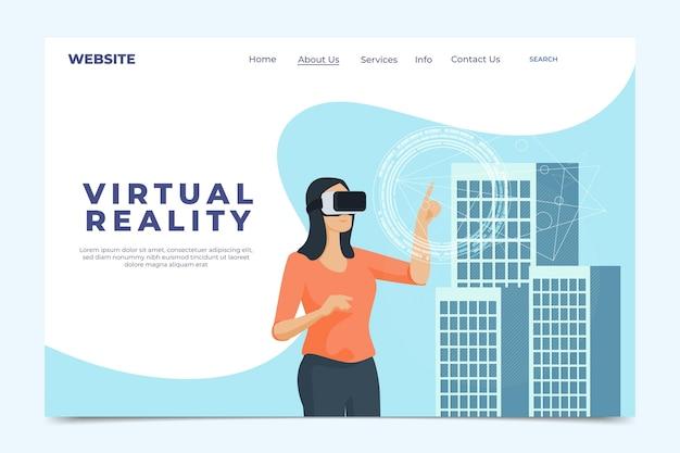 Virtual reality-concept - bestemmingspagina Gratis Vector