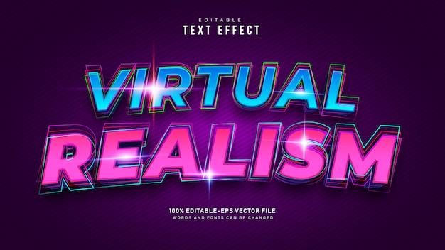 Virtual reality-teksteffect Gratis Vector