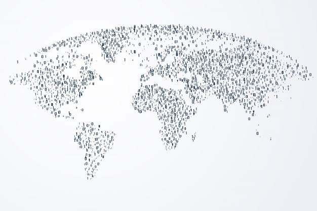 Virtueel van digitale wereldgemeenschap en internetverbinding Premium Vector