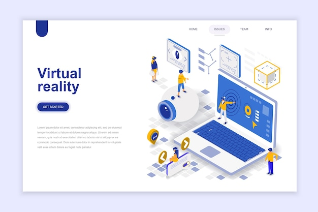 Virtuele augmented reality-bril Premium Vector