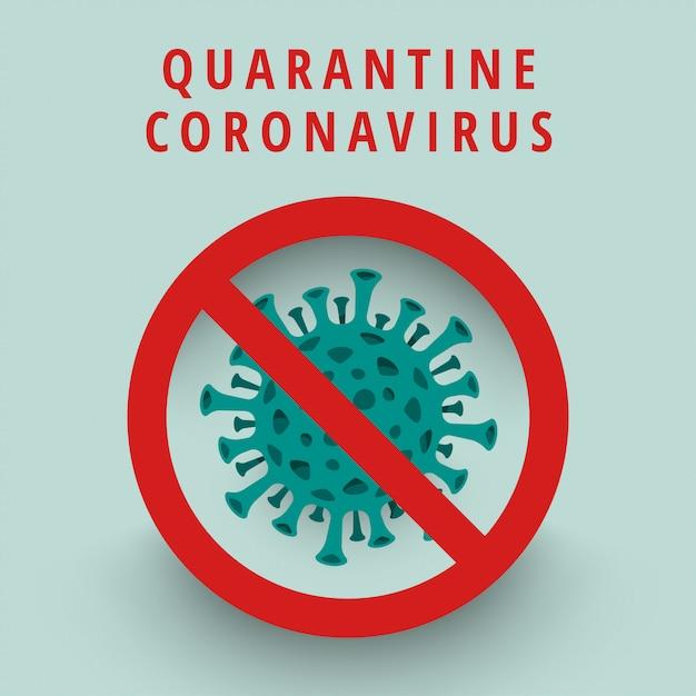 Virus corona illustratie Premium Vector