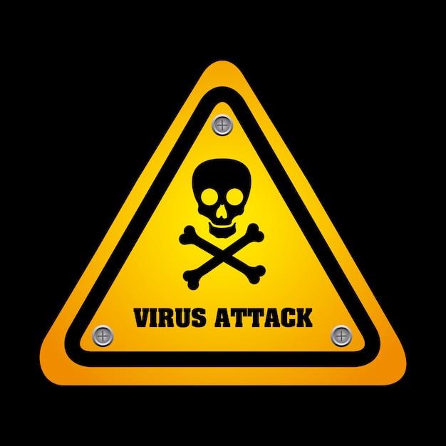 Virus grafisch ontwerp vectorillustratie Gratis Vector