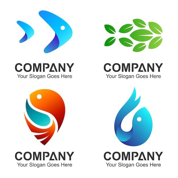 Vis logo collectie Premium Vector