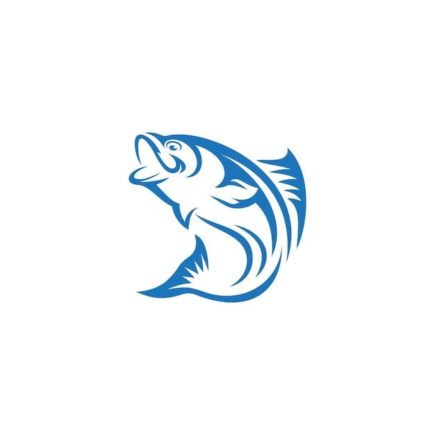 Vis logo sjabloon Premium Vector