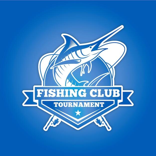 Visclub logo voor toernooi Premium Vector