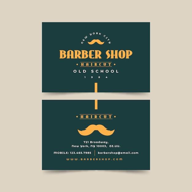 Visitekaartje concept voor kapper Gratis Vector