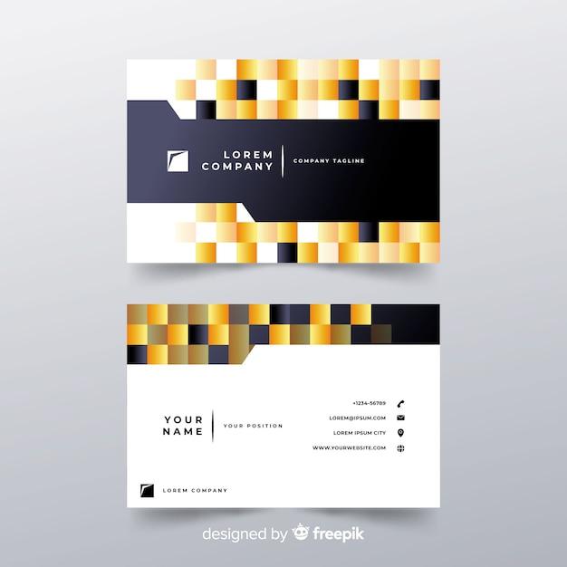 Visitekaartje met abstracte vormen Gratis Vector