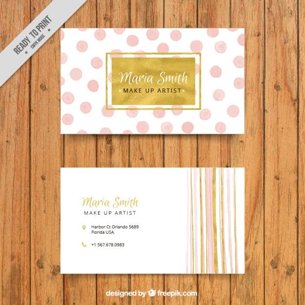 Visitekaartje met decoratieve stippen en lijnen vector gratis download - Kantoor lijnen ...