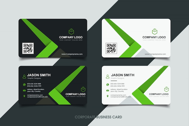 Visitekaartje met modern ontwerp Premium Vector
