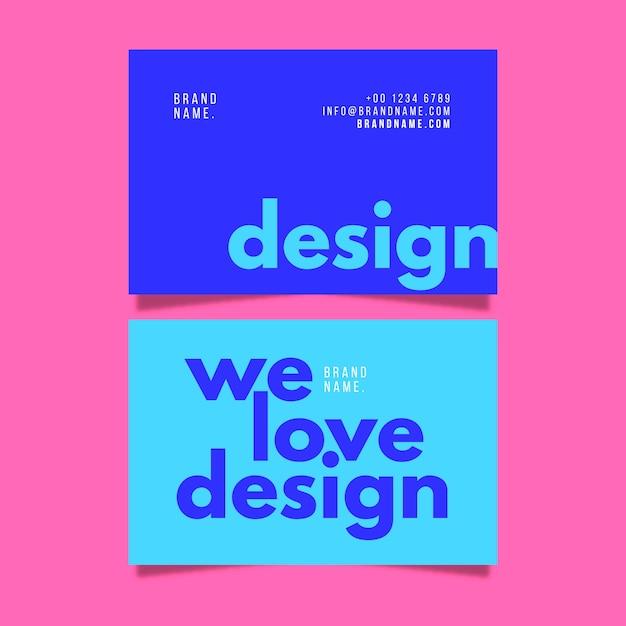 Visitekaartje sjabloon kleurrijke minimale collectie Gratis Vector