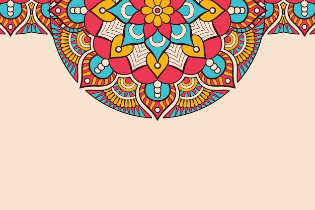 Visitekaartje. vintage decoratieve elementen. sier bloemenvisitekaartjes, oosters patroon, illustratie Gratis Vector