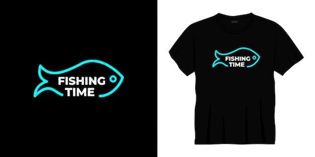 Vistijd typografie t-shirt design Premium Vector