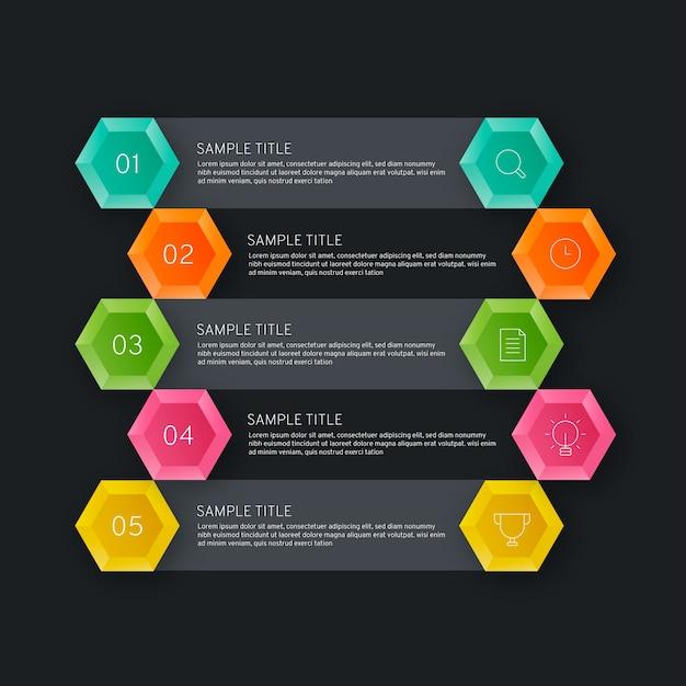 Visualisatie van bedrijfsgegevens van tijdlijn infographic Gratis Vector