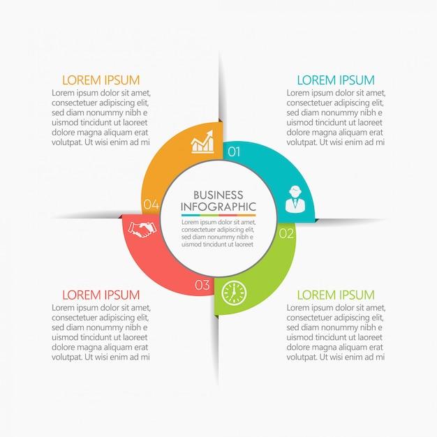 Visualisatie van bedrijfsgegevens Premium Vector
