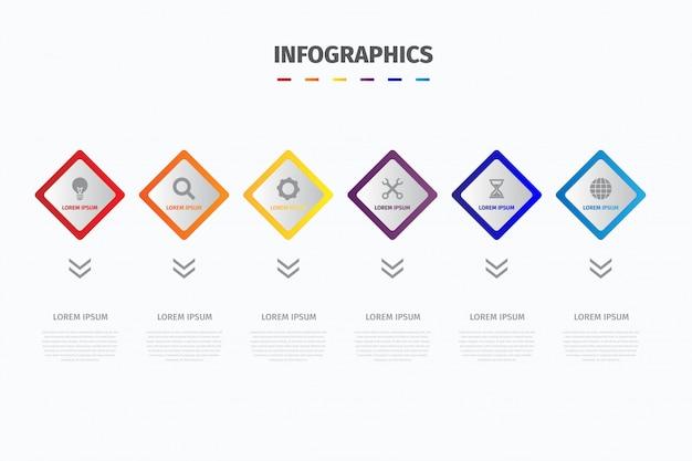 Visualiseer bedrijfsgegevensinfographics Premium Vector