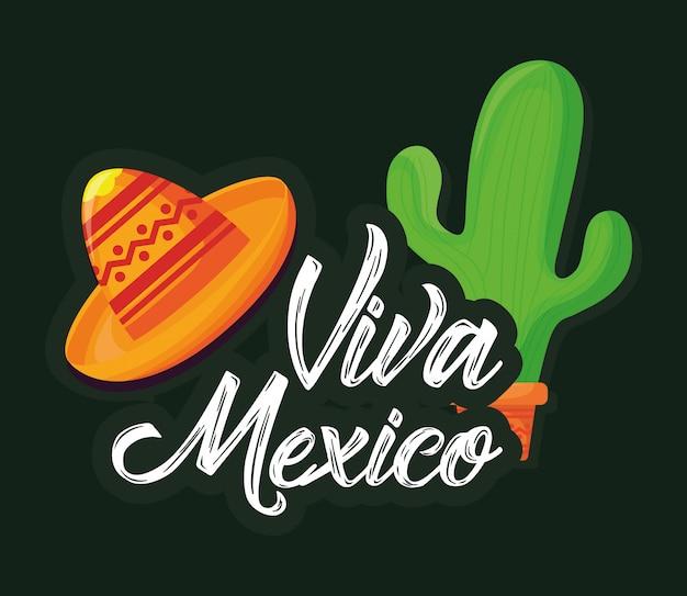 Viva mexico Premium Vector