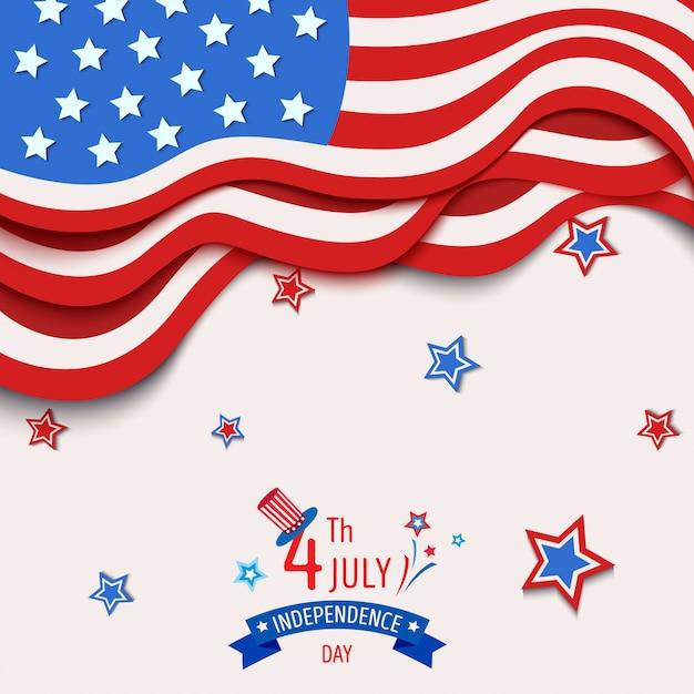 Vlag van de onafhankelijkheidsdag Premium Vector