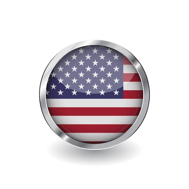 Vlag van de verenigde staten van amerika Premium Vector