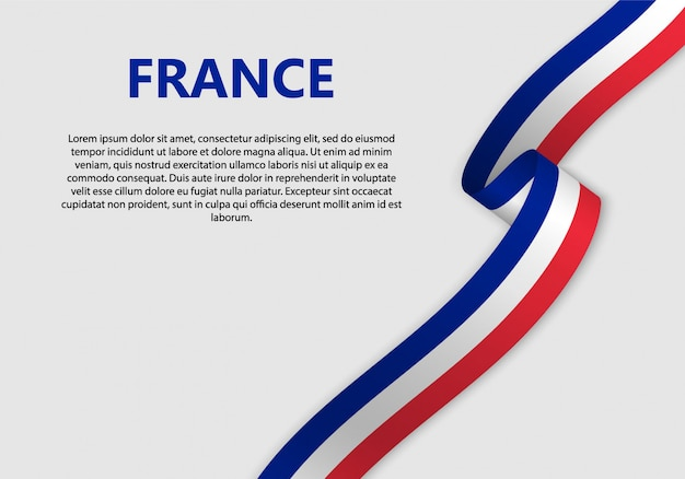 Vlag van frankrijk vlag zwaaien Premium Vector