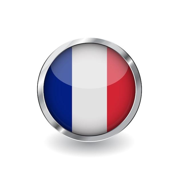 Vlag van frankrijk Premium Vector