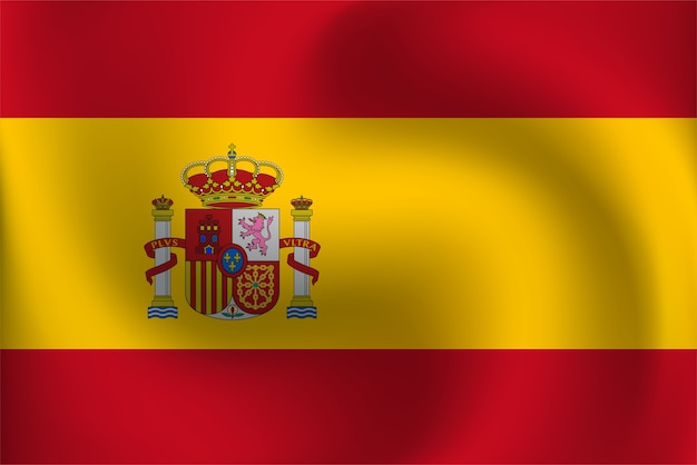 Vlag Van Spanje Premium Vector