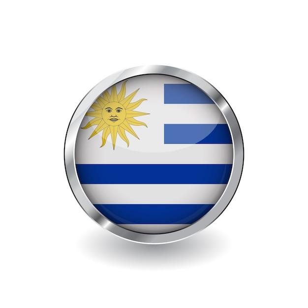Vlag van uruguay Premium Vector